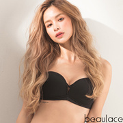 #Beaulace Be Free! Never Slip Strapless Bra_Pure Black