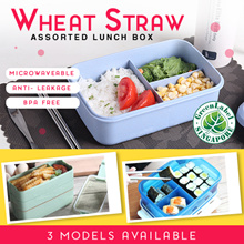 ★FREE Ship★Green Product★Adult/Student Microwaveable Wheat Straw/Classic Bento Lunch Box★BPA FREE