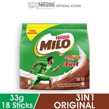 NESTLE MILO 3IN1 ACTIV-GO 18 Sticks 33g Each
