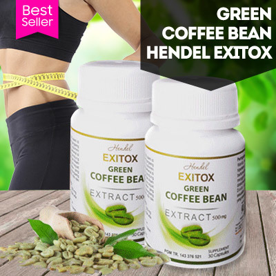Green Coffee Bean Hendel Exitox Extract 500Mg Pelangsing Alami Deals for only Rp355.000 instead of Rp355.000