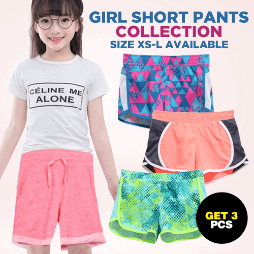 Get 3pcs_Girls Branded Short Pants_Clearance Stock Deals for only Rp79.000 instead of Rp109.722