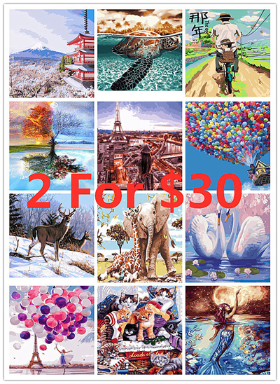 DIY Oil Paint by Number Kit for Adults Beginner 16x20 inch-Fierce Wolf Drawing with Brushes Christmas Decor Decorations Gifts Without Frame