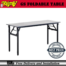 GS foldable table( Melamine top with Metal Leg ) -Light grey No delivery Sentosa and Jurong island