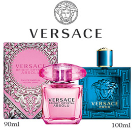 PERFUME VERSACE POUR HOMME / EROS MEN 100ML EDT SPRAY FRAGRANCE BRIGHT CRYSTAL 90ML EDT LADIES / BRIGHT CRYSTAL ABSOLU 90ML EDP WOMEN