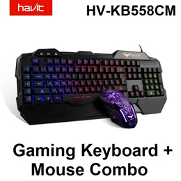 Havit HV-KB558CM Wired USB Keyboard and Mouse Combo Gaming Professional Laptop PC Game