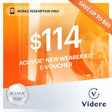 Videre x ACUVUE® New Wearer Kit ◆ 2 box purchase with Complimentary Eye Check