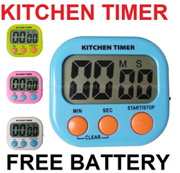 {FREE BATTERY)} Kitchen Timer with loud Alarm Digital Large LCD Screen with Packaging