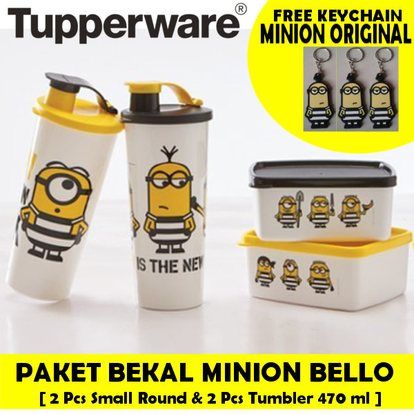 [ GET 4 PCS ] Tupperware Minion Bello Set Deals for only Rp240.000 instead of Rp240.000
