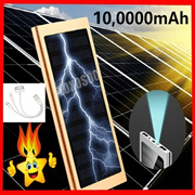 New Ultra Thin 9mm Solar Power Bank with LCD  External Solar Charger Powerbank for All Mobile P