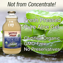 Lakewood Organic Pure Aloe Vera Juice Not From Concentrate. Fresh Pressed from Inner Fillet.
