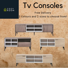 TV CONSOLES 2 SIZES AND 2 COLOURS TO CHOOSE FROM | TV RACK ADD ON MATCHING COFFEE TABLES AVAILABLE.