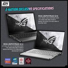 ASUS - ROG Zephyrus G14 / G15 Gaming Laptop - AMD Ryzen 9 / RTX 3060 / 3070 / 1 Year Warranty