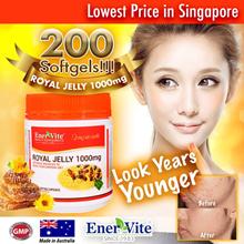 🔥Super Discount🔥Enervite Royal Jelly 1000mg 200 Softgel Combo Pack🔥6% 10-HDA🔥Exp: Jan 2020