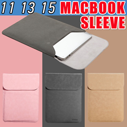 Luxury Leather Matte Sleeve Laptop Bag for 11 12 13 15 inch Macbook Air Pro Touch Bar Surface Pro