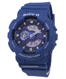 [CreationWatches] Casio Baby-G Tandem Series World Time BA-110DC-2A2 BA110DC-2A2 Womens Watch