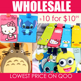 LOWEST PRICE! [10pc] Cute Silicone Cartoon Name Tags/ Luggage Tag / Party Gifts/ Birthday Gifts