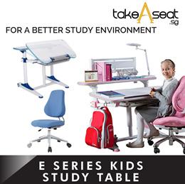 E Series Kids Children Ergonomic Study table with shelf upgrade chair