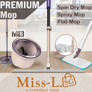 [BL] LATEST 2017 INNOVATION BOOMJOY® M8 Boutique Spin Dry Mop Set/ Spray Mop/Flat-Mop/lazy-mop