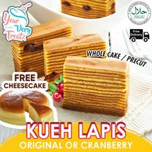 Original Or Cranberry Flavor KUEH LAPIS!! 1 Whole Cake Plus Free Cheesecake