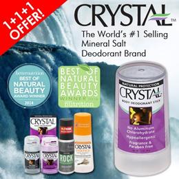 World #1 Selling Mineral Salt Crystal Deodorant - Lower risk Breast cancer/ No Dark underarms