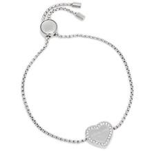 Michael Michael's course bracelet MICHAEL MICHAEL KORS MKJ 53000040 HERITAGE ARMBAND Heart bracelet · Bangle silver