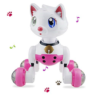 Voice Controlled Robot, Anytec Electronic Robot Pet Cat with Sing Dancing  Following Interactive E