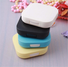 Mini Travel Shape Contact Lens Case Box Container Holder