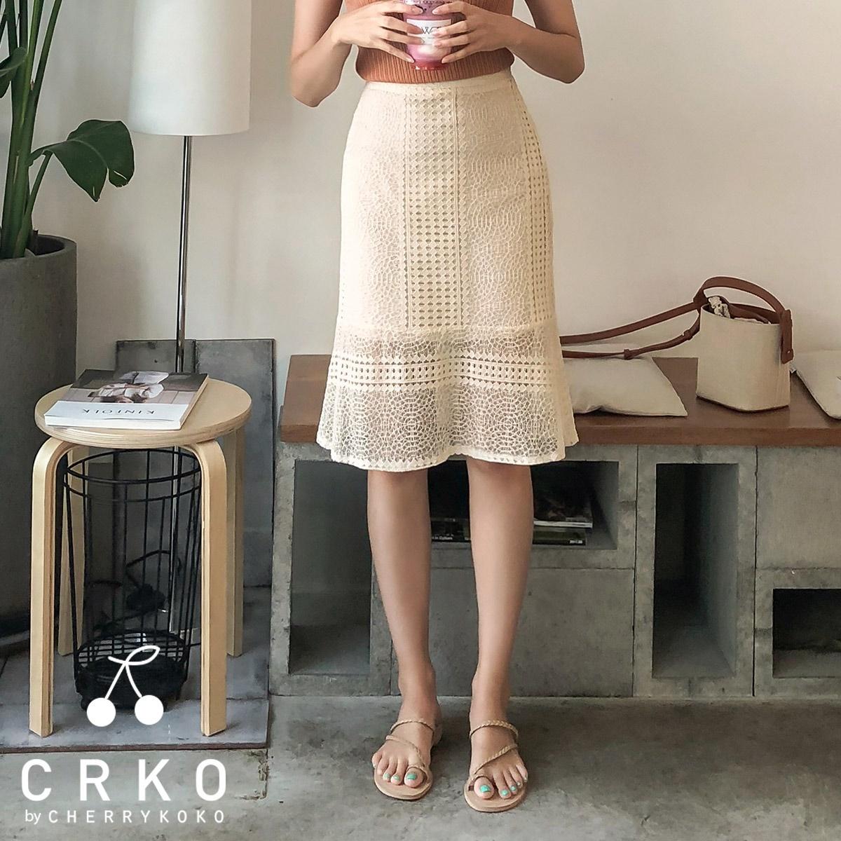 [CHERRYKOKO官方旗艦店] H-line蕾絲裙 / be rumi skirt