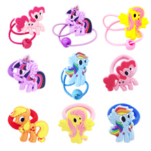 ☆ Restocked Oct ☆ My Little Pony Character Designed Hair Ties Hairband Rubber Band For Baby Kids
