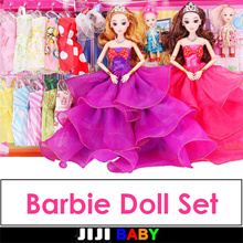 ★ Barbie Doll Set ★ Dress Up ★ Stickers ★ Clothing ★ girls toys/Barbie Dolls/Toys for Girl Barbie