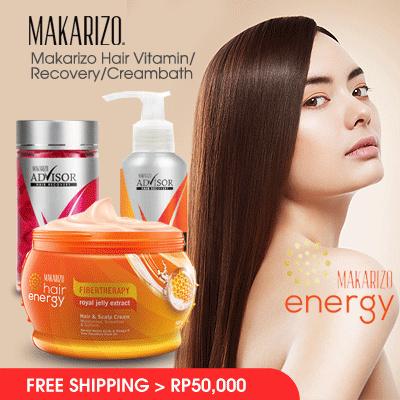 Makarizo Hair Vitamin 50s + Creambath 500gr + Hair Repair 50mL