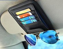 [SG] Sunglass Clip / PU Leather Multipurpose Car Visor Organiser Organizer Card Storage Pen Holder