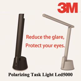 3M™ LED5000 LED Task Light - Black / White - Study Lamp / Anti-Flicker Light