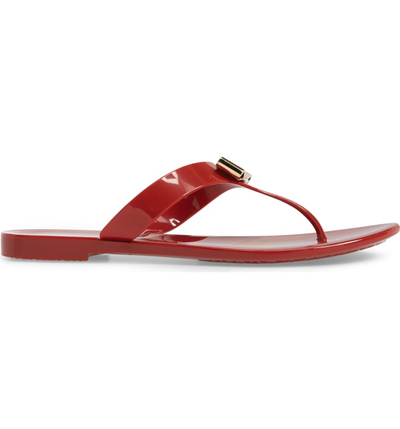 3a206f716690 Qoo10 - SALVATORE FERRAGAMO Farelia Jelly Flat Bow Sandal   Shoes