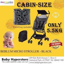 Beblum Micro CABIN-SIZE STROLLER★SUPER LIGHT5.5kg★LOCAL warranty★6months to 18kg★SMALLER THAN POCKET