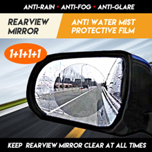 1+1+1+1 Car Rear View Mirror Waterproof Membrane Anti Rain Fog Glare Automotive xiaomi durian