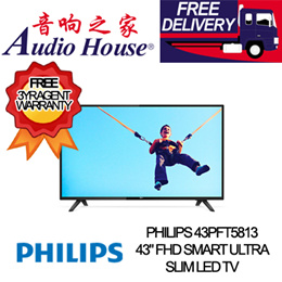 PHILIPS 43PFT5813 43 FHD SMART ULTRA SLIM LED TV 3 YEARS WARRANTY BY PHILIPS