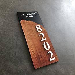 Acrylic door brand custom door number number plate residential family room number hotel hotel box di
