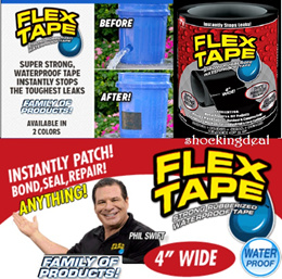 FLEX TAPE - USA TOP SELLER*GRIP ON TIGHT*STRONG RUBBERIZED WATERPROOF TAPE *SUPER STRONG TAPE*
