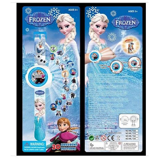 Elsa /& Olaf 20 images Frozen Brand New projection Watch-Anna
