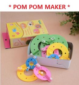 [NEW LISTIN] [POM POM MAKER] POM POM Maker Kit - DIY POMPOM - YARN