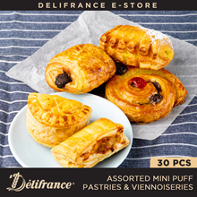 ]Delifrance Bundle of 30 Mini Puff Pastries and Pastries and Viennoiseries