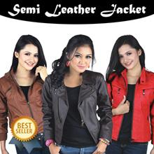 ★★★ BEST SELLER ★★★ Local brand semi leather Women jacket - Big Size Ready