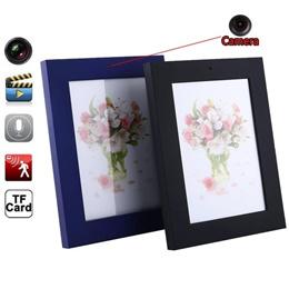 DVR Cam DV Photo Frame Hidden Spy Camera Video Recorder 0819MOtion Detector 2Color (Color: Black)