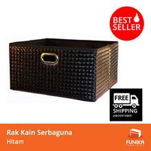 [FREE SHIPPING JABODETABEK]FUNIKA 13166 BK- Rak Kain Serbaguna (Non Woven Storage Bin Black Wicker)