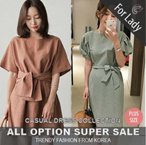★26th Update New Arrivals ♥Korean Style♥ Linen / Casual Dress / LOOSE Fit  / Basic / Plus size