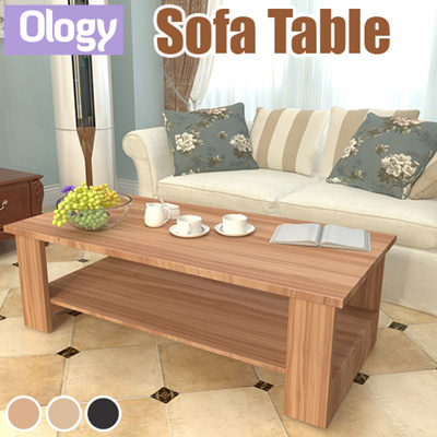 Qoo10 Coffee TV Console Table Sofa Bed Side fice Home Study Desk Solid Woo Furniture