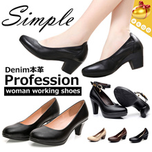 PLUS SIZE-Dermal◆Real leather office shoes for woman◆spring and autumn/ Comfort and Stylish Working