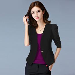 Okechuku EMILY Blazer Wanita Fashion Model Korea Pakaian Kantor Kerja-HITAM 36d0888c6c