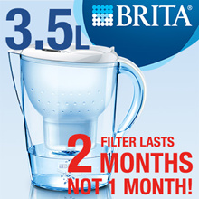 BRITA Marella XL White 3.5L + 2 MONTHS Maxtra [from Germany]